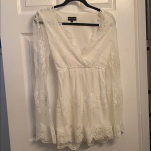Pretty Little Thing White Lace Romper